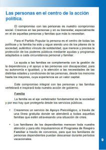 Página del programa electoral