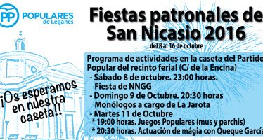 El Partido Popular presenta sus actividades para las fiestas de San Nicasio