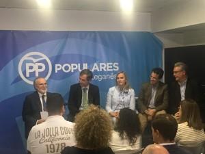 De Izquierda a derecha, Amador Sánchez, Antonio González Terol, Rosalía Gonzalo, Miguel Ángel Recuenco y Raúl Lopez