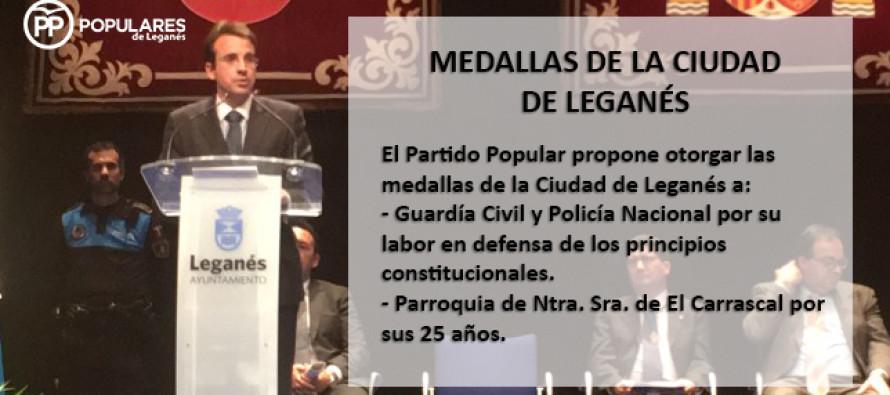 El Partido Popular propone a La Guardia Civil y al Cuerpo Nacional de Policía para la medalla de oro de Leganés