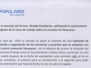 El Partido Popular exige al Alcalde la convocatoria urgente de la mesa de trabajo de Parquesur por falta de transparencia