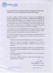 Petición convocatoria mesa Parquesur