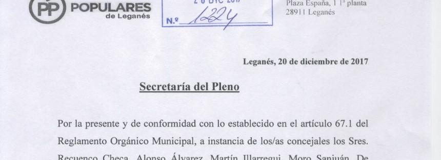 El Partido Popular fuerza al Alcalde a celebrar un pleno extraordinario para el control de su gestión