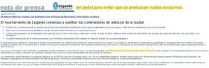 Nota prensa Alcaldía