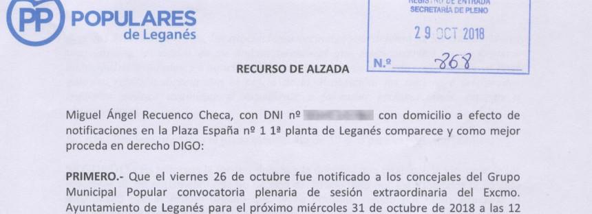 El alcalde socialista vulnera los derechos de los vecinos al no darles tiempo a presentar enmiendas a sus presupuestos